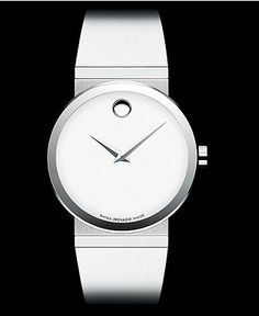 Movado Watch, Women's Swiss White Rubber Strap 34mm 0606270 - Women's Watches - Jewelry & Watches - Macy's