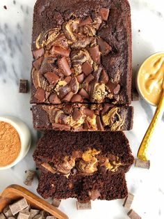 Double Chocolate Peanut Butter Brownie Loaf (gluten-free) - rachLmansfield