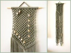 Macrame Wall Hanging - Asymmetry - Handmade Macrame Home Decor by Evgenia Garcia by craft2joy on Etsy