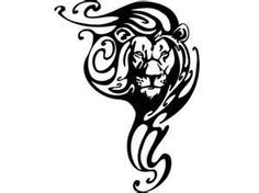 Tribal Lion Tattoo definitely inspired by this general idea