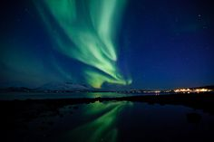 Aurora Borealis timelapse HD Video - Flowing Auroras Over Norway  from Tor Even Mathisen