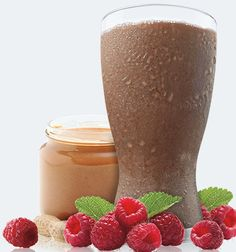 1 serving Chocolate Vegan Shakeology 1 cup unsweetened almond milk ½ cup fresh or frozen raspberries 1 tsp. all-natural peanut butter  For the best taste experience, use a blender and add ice. The more ice, the thicker it gets. Feel free to use any kind of milk or milk substitute (almond, rice, or coconut milk)—the more milk, the creamier it gets! Enjoy!  Calories: 352 From Mommy Means Business