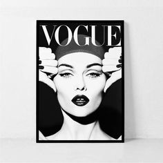 Vogue Cover Print Black and White Art Vintage Vogue Poster White Art, Black And White, Wall Collage, Wall Art, Beauty Lounge, Vogue Covers, Illustrations, Vintage Vogue, Home