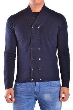 Dondup Men's Blue Wool Cardigan.