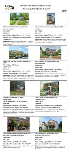 Come visit our Open Houses this weekend!!! Great homes at great prices!!!