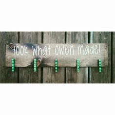 Hey, I found this really awesome Etsy listing at https://www.etsy.com/listing/237589558/look-what-i-made-customized-board-kids