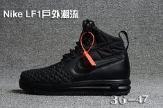 pretty nice 7e013 6a77d Mens Womens Casual Shoes Sneakers Nike Lunar Force 1 Duckboot 17 KPU Triple  Black Nike Stiefel