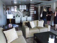 Deck 11 - Celebrity Suite - Lounge, Dining room and kitchenette.
