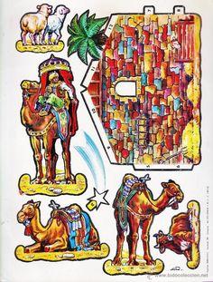 recortable - portal de belen - ed. edelvives - cartulina - sin estrenar - ver foto - año 1982