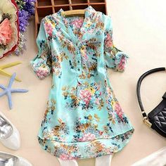 Happy-Women-Retro-Long-Sleeve-Flower-Printed-Shirt-Casual-V-Neck-Blouses-Tops