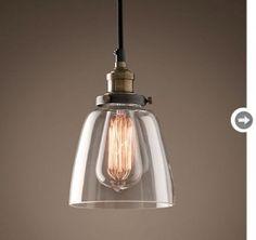 Vintage industrial pendant light - Restoration Hardware $129