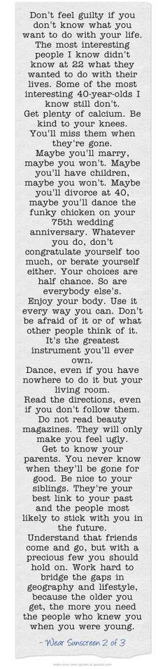 Really practical advice