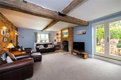 4 bedroom detached house for sale in Billingborough Road, Horbling, Sleaford, - Rightmove. Exposed Brick Walls, Exposed Beams, Grey Painted Walls, Log Burning Stoves, Window Seat Storage, Multi Fuel Stove, Paved Patio, Brick Building, Cottage Interiors