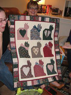 Karen's Cat quilt