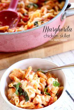 Skillet Meals, Skillet Dinners, Margherita Chicken, Margherita Skillet Meal