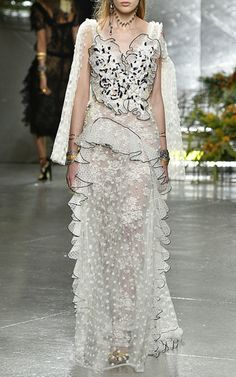 Tulle And Lace Gown by Rodarte