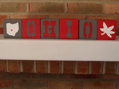 HandPainted Collegiate Block Set Ohio State by OhiowaGifts on Etsy, $25.00