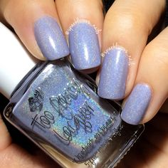 Selene - dusty periwinkle light holo with blue/purple shifting shimmers, from The God and Goddess Collection (swatched by IG@sparklicious_nails)
