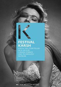 Festival Karsh / Branding by Charley Massiera, via Behance