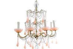 Pink Drop Chandelier | The Paris Apartment | One Kings Lane