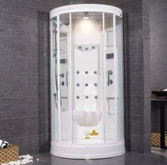 $2790 (CLICK IMAGE TWICE FOR UPDATED PRICING AND INFO) Sliding Door Steam Sauna Shower with Bath Tub Size: 85 x 40 x 40 - $2790 See More Steam Saunas at http://www.zbuys.com/level.php?node=5661=steam-saunas