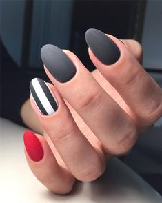 100 Elegant Black Nails Design Ideas Exceptional Look 2019 - Page 81 of 102 - Soflyme Flower Nail Designs, Black Nail Designs, Pretty Nail Designs, Short Nail Designs, Nail Art Designs, Nails Design, Matte Nail Art, Black Nail Art, Black Nails Short