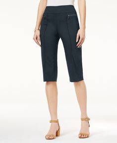 Style & Co Petite Pull-On Capri Pants, Only at Macy's