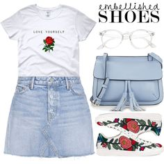 Carefree by apoorvakingar on Polyvore featuring GRLFRND, Gucci, KC Jagger and embellishedshoes