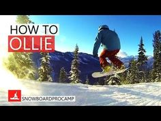 How to Ollie on a Snowboard - Snowboarding Tricks - How to Olli. - How to Ollie on a Snowboard – Snowboarding Tricks – How to Ollie on a Snowboar - Snowboard Tricks, Snowboard Girl, Snowboarding For Beginners, Snowboarding Tips, Downhill Bike, Snow Fun, Winter Sports, Kayaking, Skiing
