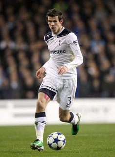 Gareth Bale. Midfielder at Tottenham Hotspurs and Wales national football team. And double payer of the year 2013!