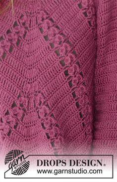Джемпер Flora Viola фото Crochet Tunic, Filet Crochet, Crochet Clothes, Crochet Top, Double Crochet, Freeform Crochet, Drops Design, Charts, Chain Stitch
