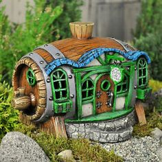 "Miniature Garden Fairy House "" The Tortoise Toad"" Fairy Inn"" Gnome Hobbit 