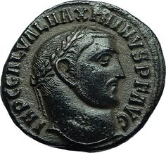 MAXIMINUS II Daia 311AD Authentic Ancient Roman Antioch Coin w GENIUS i66467 Antique Coins, Old Coins, Rare Coins, Pompeii And Herculaneum, Pirate Treasure, Roman History, Ancient Rome, Coin Collecting, Roman Empire