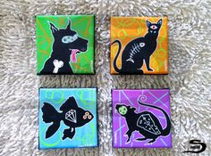 Black Rat is an original, one of a kind, surreal acrylic painting of a rat…