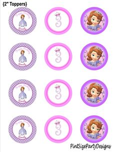 Items similar to Sofia the First Birthday cupcake toppers- Sofia The First Birthday Party- Sofia The First on Etsy First Birthday Cupcakes, Sofia The First Birthday Party, Sofia Party, 4th Birthday, Pink And Gold Birthday Party, Candy Bar Princesas, Princesa Sophia, First Birthday Chalkboard, Princess Theme