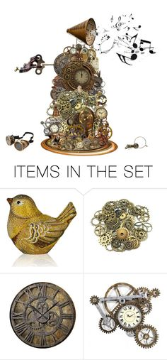 """""""Music Steampunk style."""" by cardigurl ❤ liked on Polyvore featuring art"""