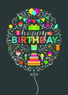 Happy birthday balloon Happy Birthday Hand Lettering eab0d65f1f6a4