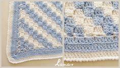 (Crochet * Stash-buster)   Made by: Chichi             My aunt made this blanket for a baby boy.   Mi tía tejió esta manta para una bebé. ...