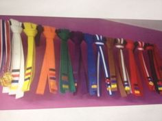 how to tie a martial arts belt for display on pegs - Google Search