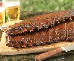 Apple-Bacon Barbecued Ribs (Gas Grill Version) recipe