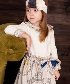 Loving this Sado Ivory Crochet Ruffle Top - Infant, Toddler & Girls on #zulily! #zulilyfinds