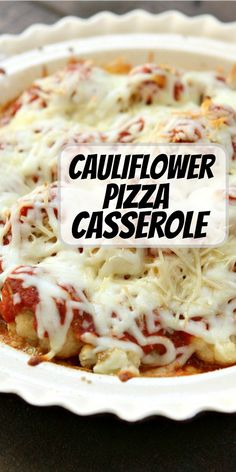 Cauliflower Pizza Casserole recipe from RecipeGirl.com #cauliflower #pizza #casserole #recipe #RecipeGirl Easy Holiday Recipes, Easy Delicious Recipes, Healthy Eating Recipes, Healthy Cooking, Berry Smoothie Recipe, Protein Smoothie Recipes, Healthy Smoothies, Breakfast Recipes, Dinner Recipes