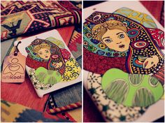 when you are cold ... )  #case #ipad #mini #bird #girl #draw #handmade #art #artlife #painting