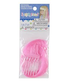 Another great find on #zulily! Pink Hair Extension for 18'' Doll #zulilyfinds