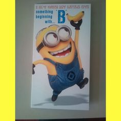 #Minions #Birthday #Card #Bananas #AnotherYearOlder