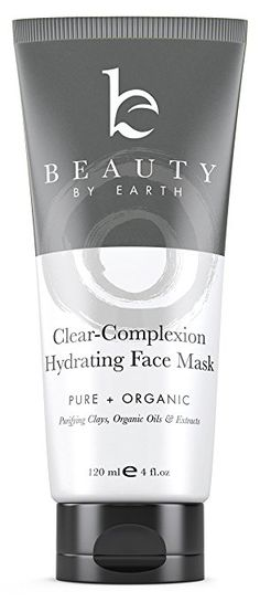 Facial Mask - Hydrating Face Clay, Organic & Natural Ingredients for Deep Pore Cleansing, Redness and Spot Treatment - Men & Women with Acne, Dry, Combination, Oily or Sensitive Skin, USA Made
