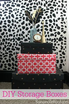 DIY Decorative Storage Containers via RainonaTinRoof.com #storage #decorativeboxes