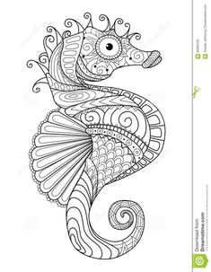 mandala-zentangle-seahorse-coloring-pageYou can find Mandala coloring pages and more on our website.mandala-zentangle-seahorse-coloring-page Coloring Pages For Grown Ups, Free Adult Coloring Pages, Animal Coloring Pages, Coloring Pages To Print, Free Printable Coloring Pages, Coloring Book Pages, Coloring For Kids, Free Coloring, Printable Art