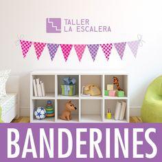 Banderines Vinilos Deco Autoadhesivos 15x20cm C/u Pack X 9 ! - $ 150,00 en MercadoLibre
