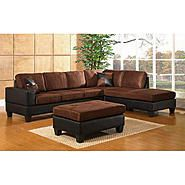 Our Sectional Is Simular To This But Has A Deep Chocolate Brown For The  Cushions And Black As The Leather On The Bottom | Living Room Furniture |  Pinterest ...